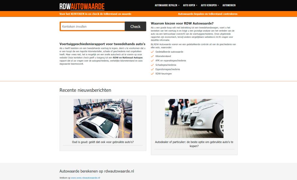 Rdwautowaarde.nl